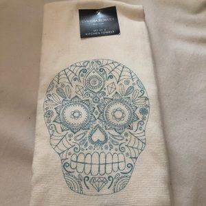 Cynthia Rowley Sugar Skull Kitchen Towel